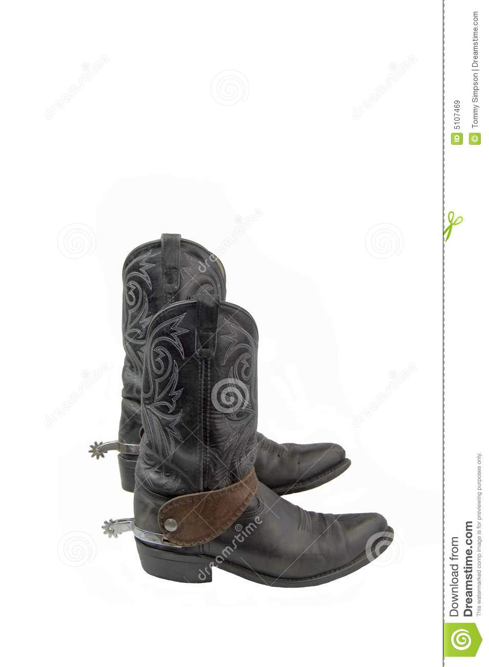 Boots With Spurs Royalty Free Stock Images Image 5107469