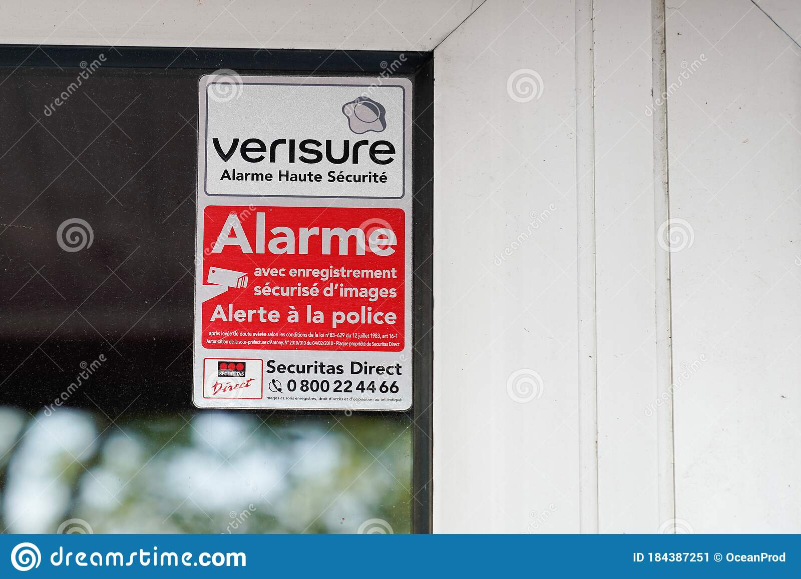 Bordeaux Aquitaine France 05 05 2020 Verisure Logo Sign Of Home Alarm Triggers In Private House Editorial Photo Image Of Private Information 184387251