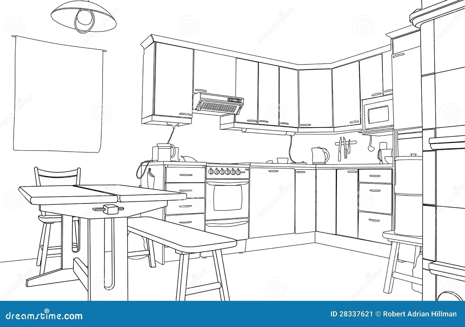Bosquejo De La Cocina Ilustracion Del Vector Ilustracion