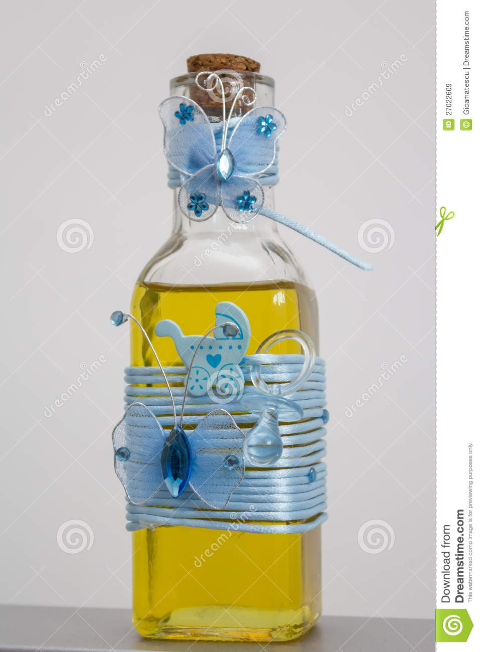 Bottle With Oil For Christening Royalty Free Stock Images Image 27022609