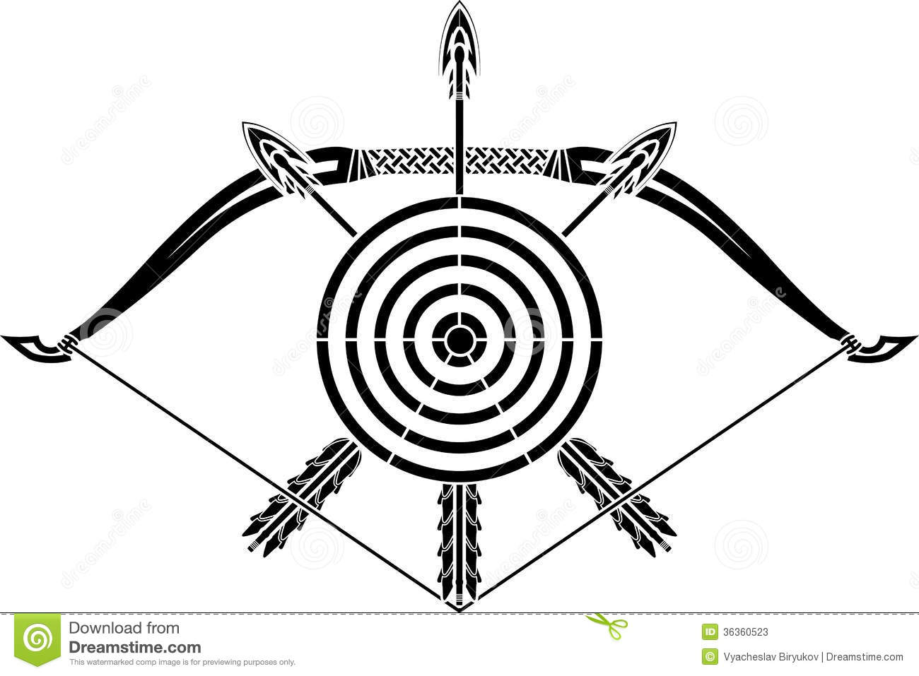 Bow And Arrows Stock Vector Illustration Of Center