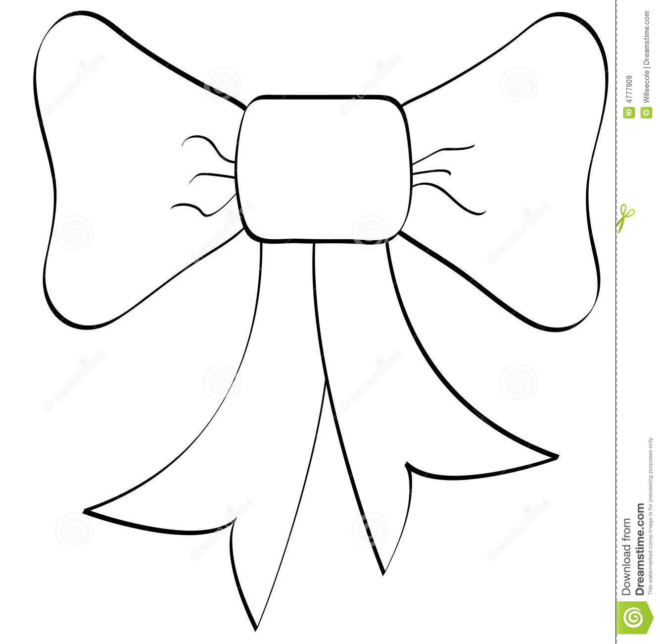 Bow Outline Royalty Free Stock Images
