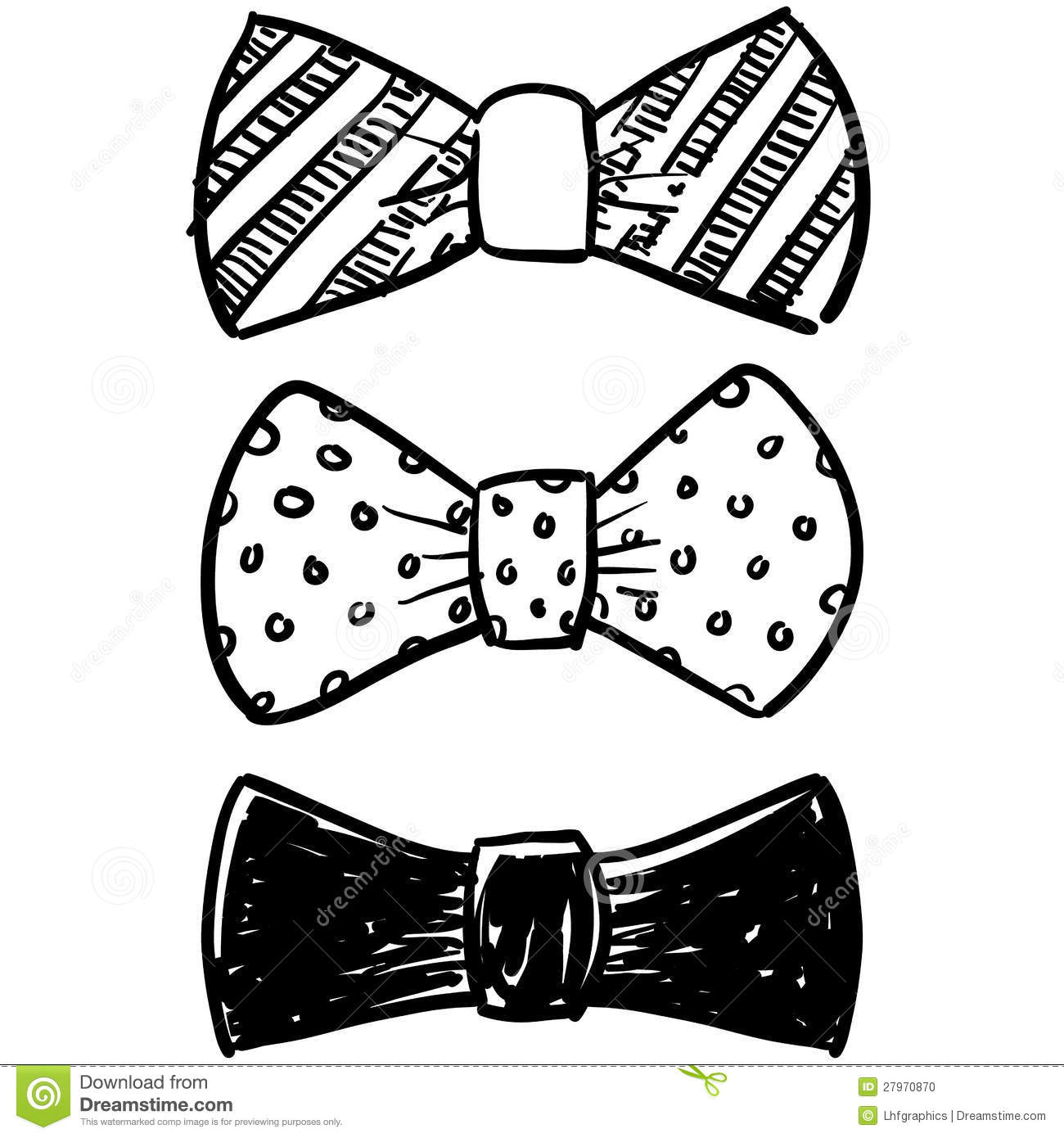 Bow Tie Selection Sketch Stock Vector Image Of Vector