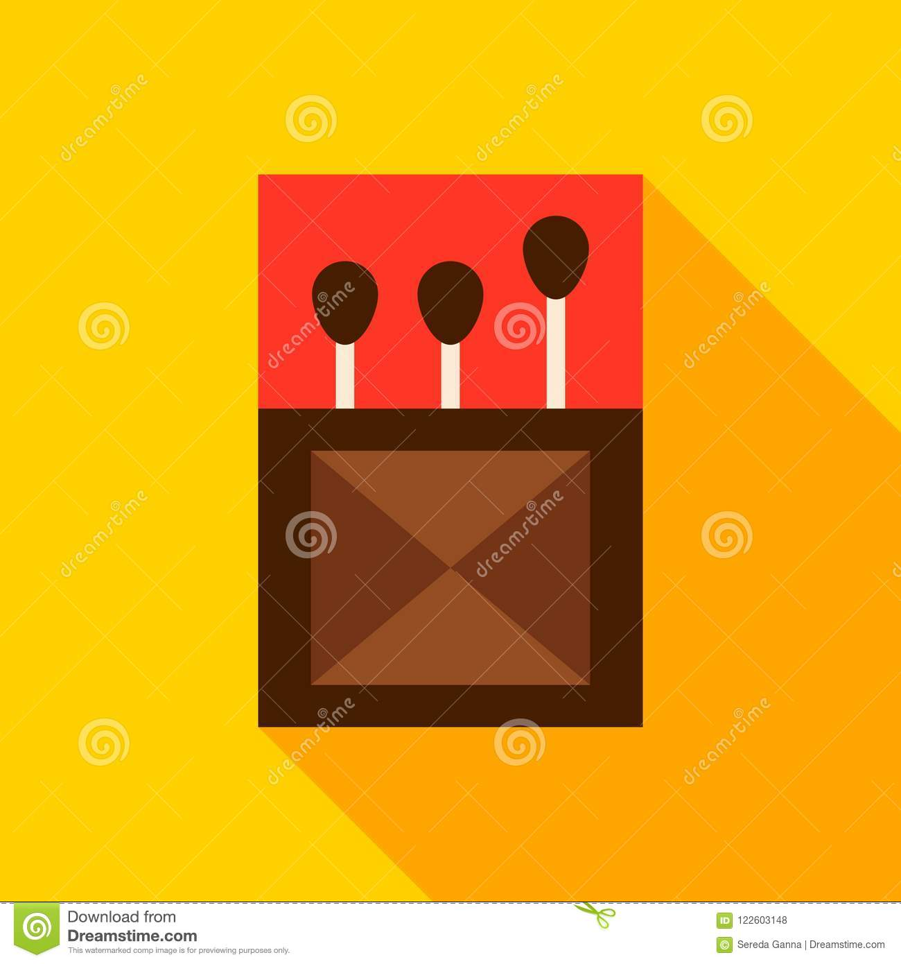 Box Of Matches Object Icon Stock Vector Illustration Of