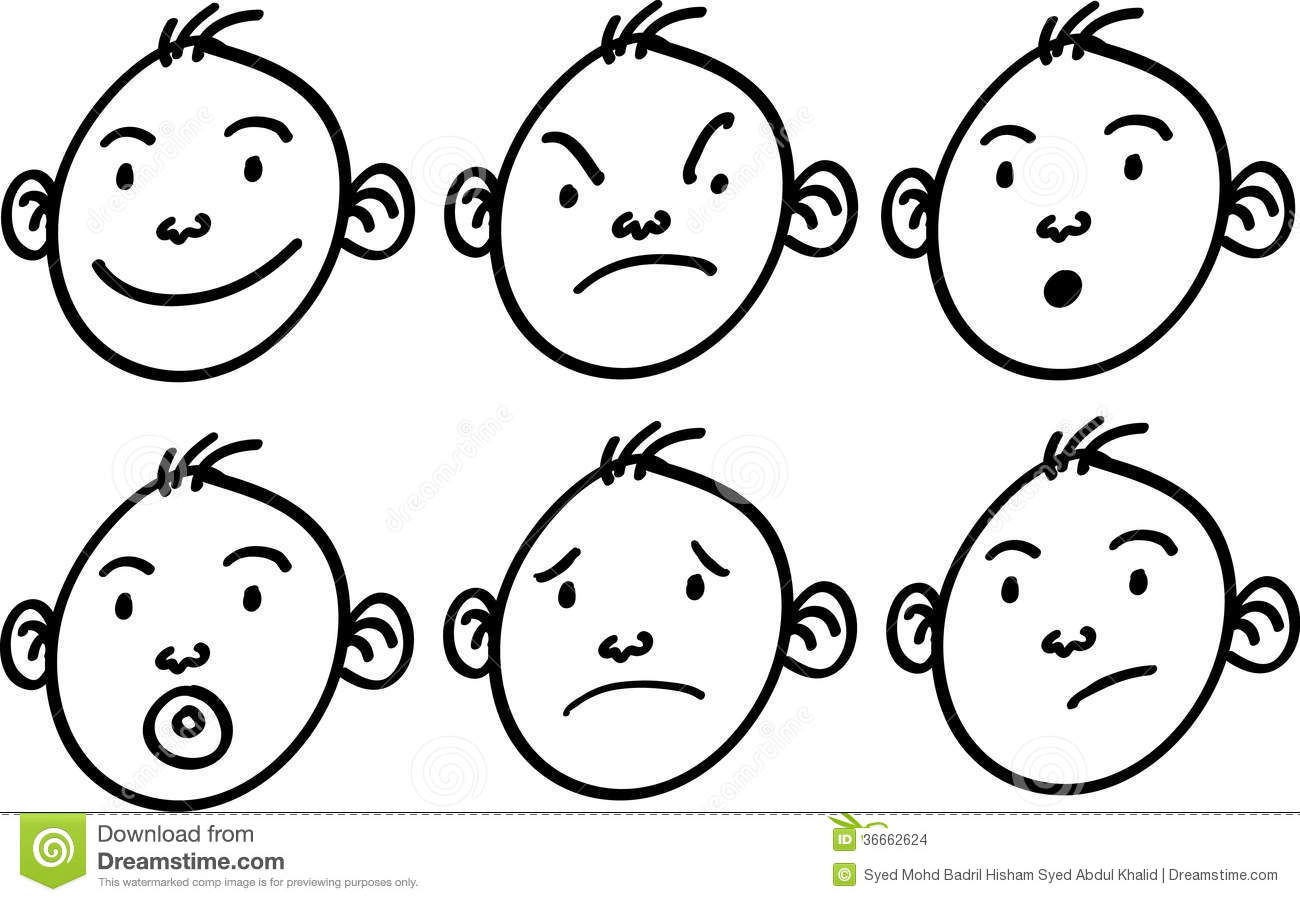 Boy Cartoon Face Stock Images