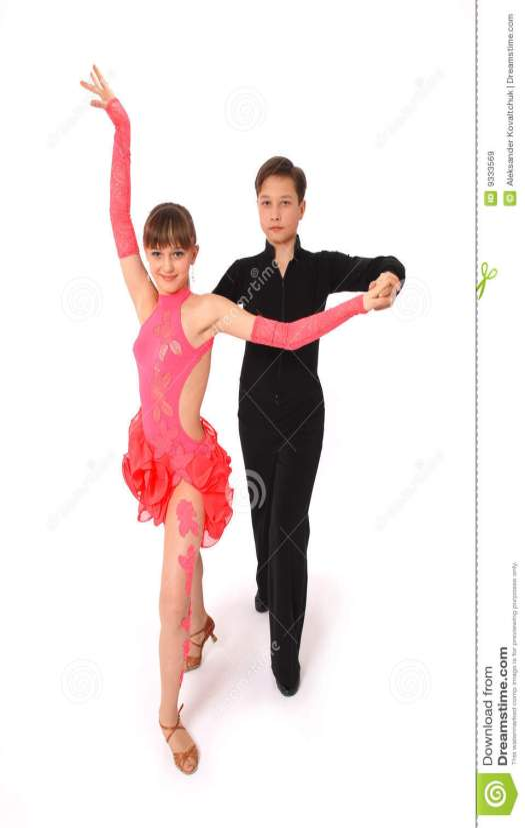 Boy And Girl Dancing Ballroom Dance Royalty Free Stock ...