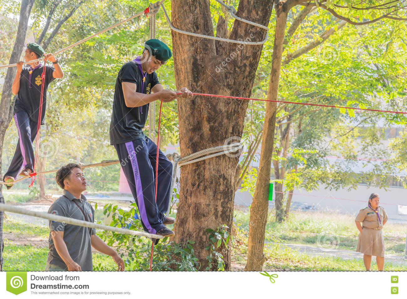 Boy Scouts Outdoor Activities Editorial Stock Image