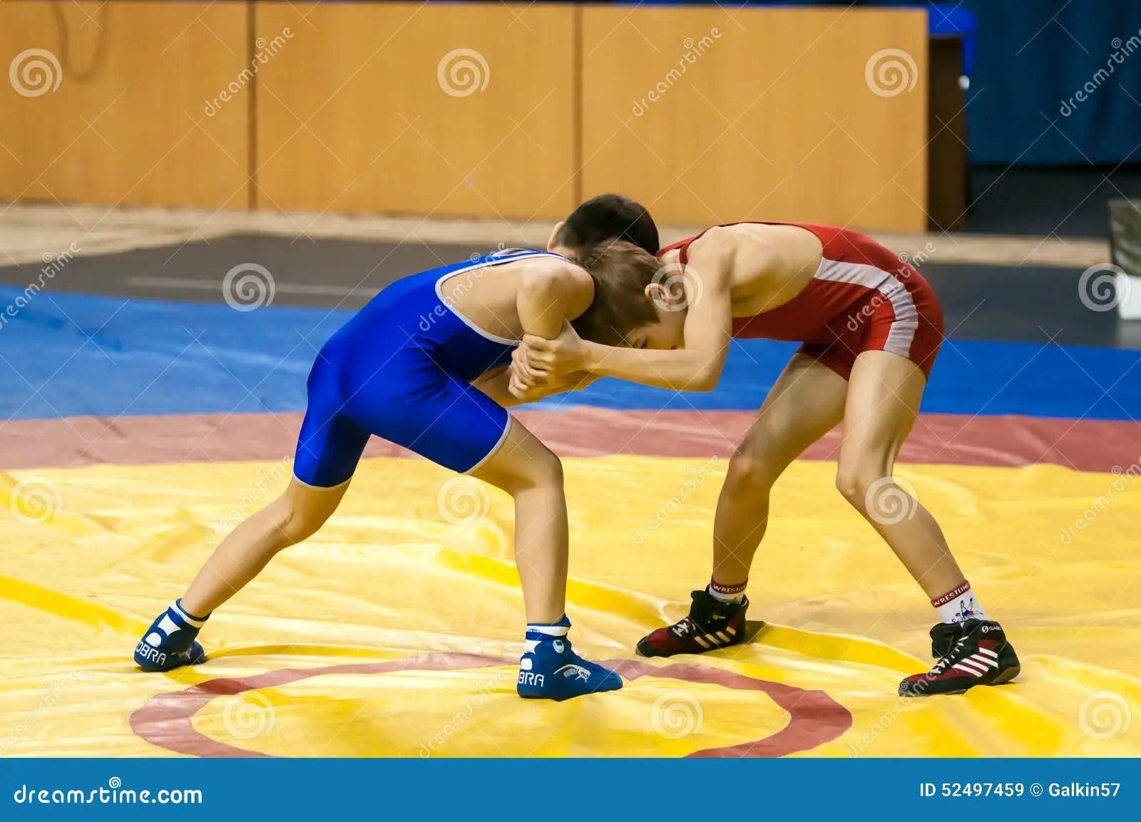 The Boys Compete In Greco Roman Wrestling Orenburg