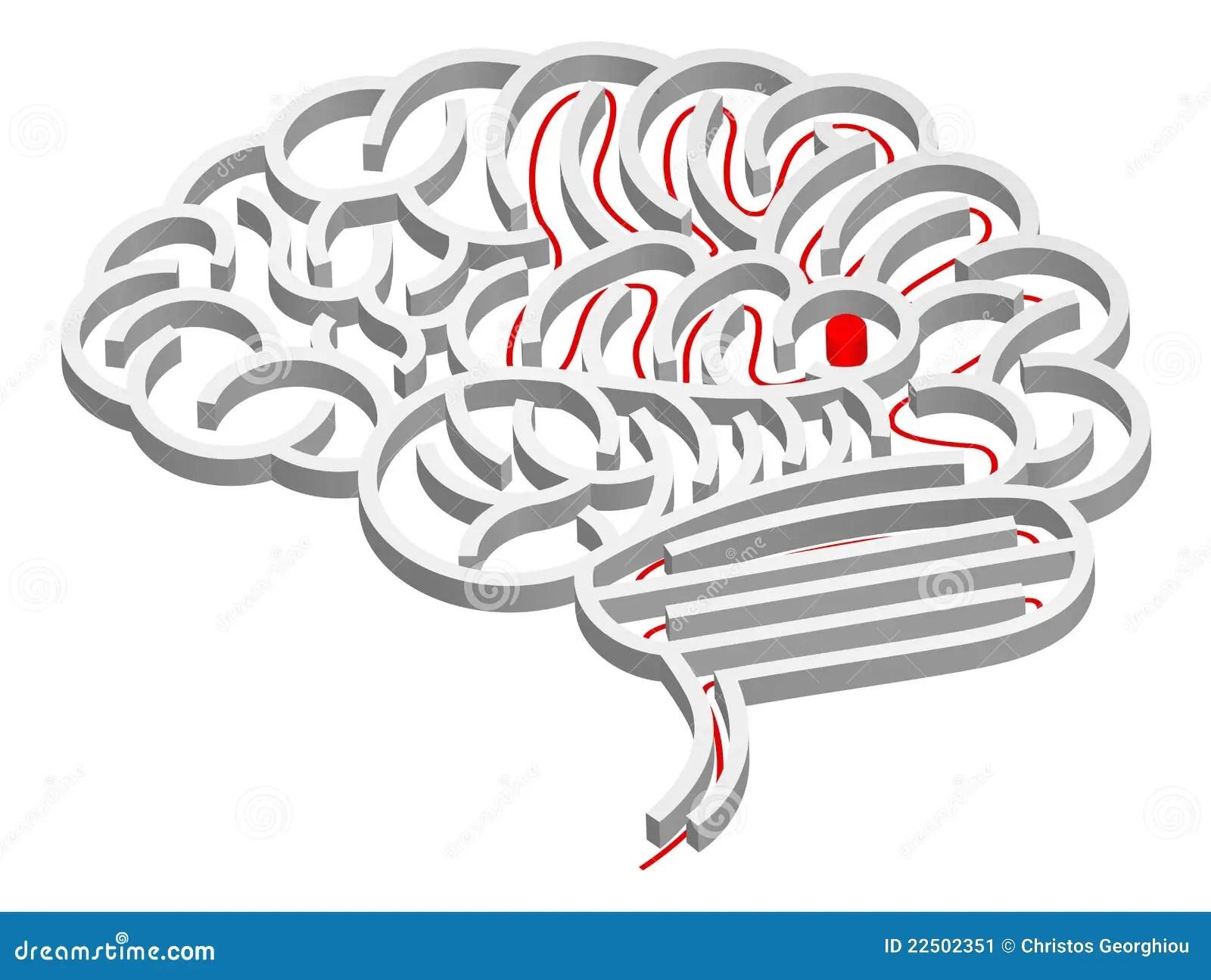 Brain Maze Concept Stock Vector Illustration Of Labyrinth