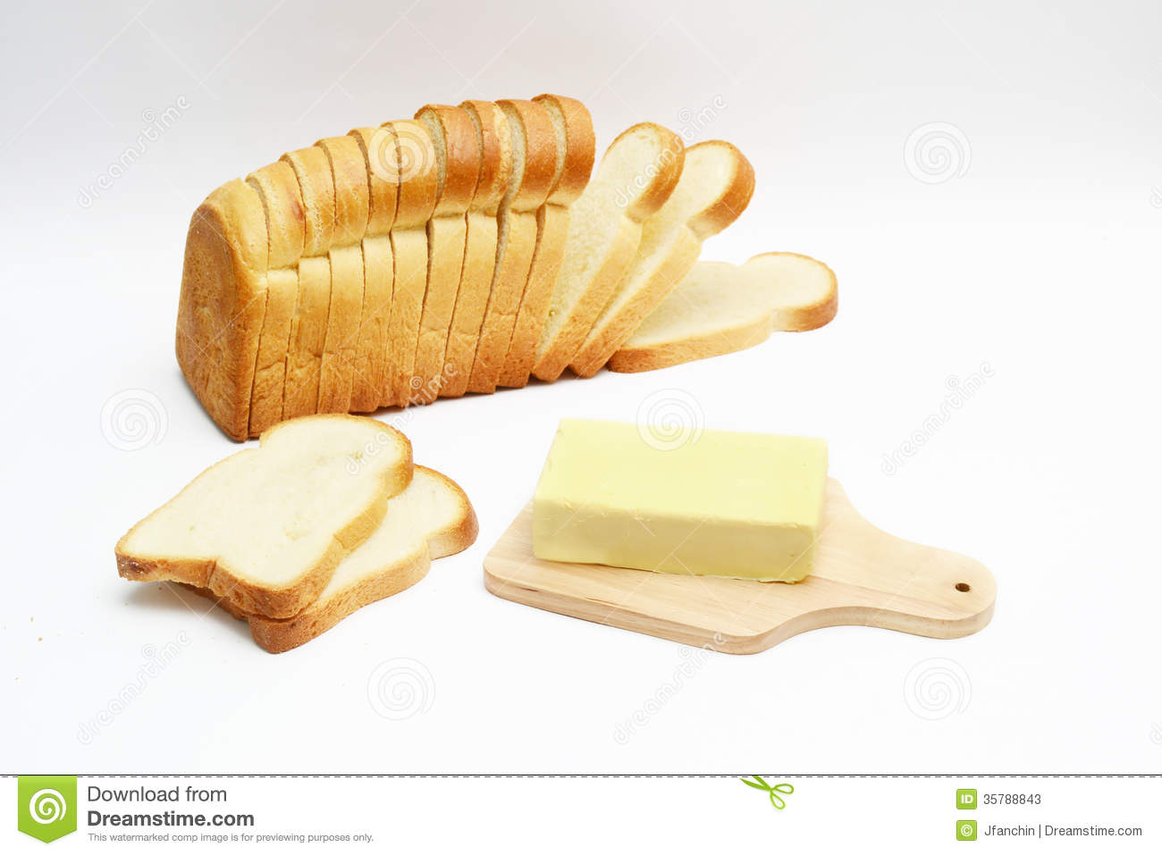 Bread And Butter Stock Image Image Of Fiber Loaf Bread