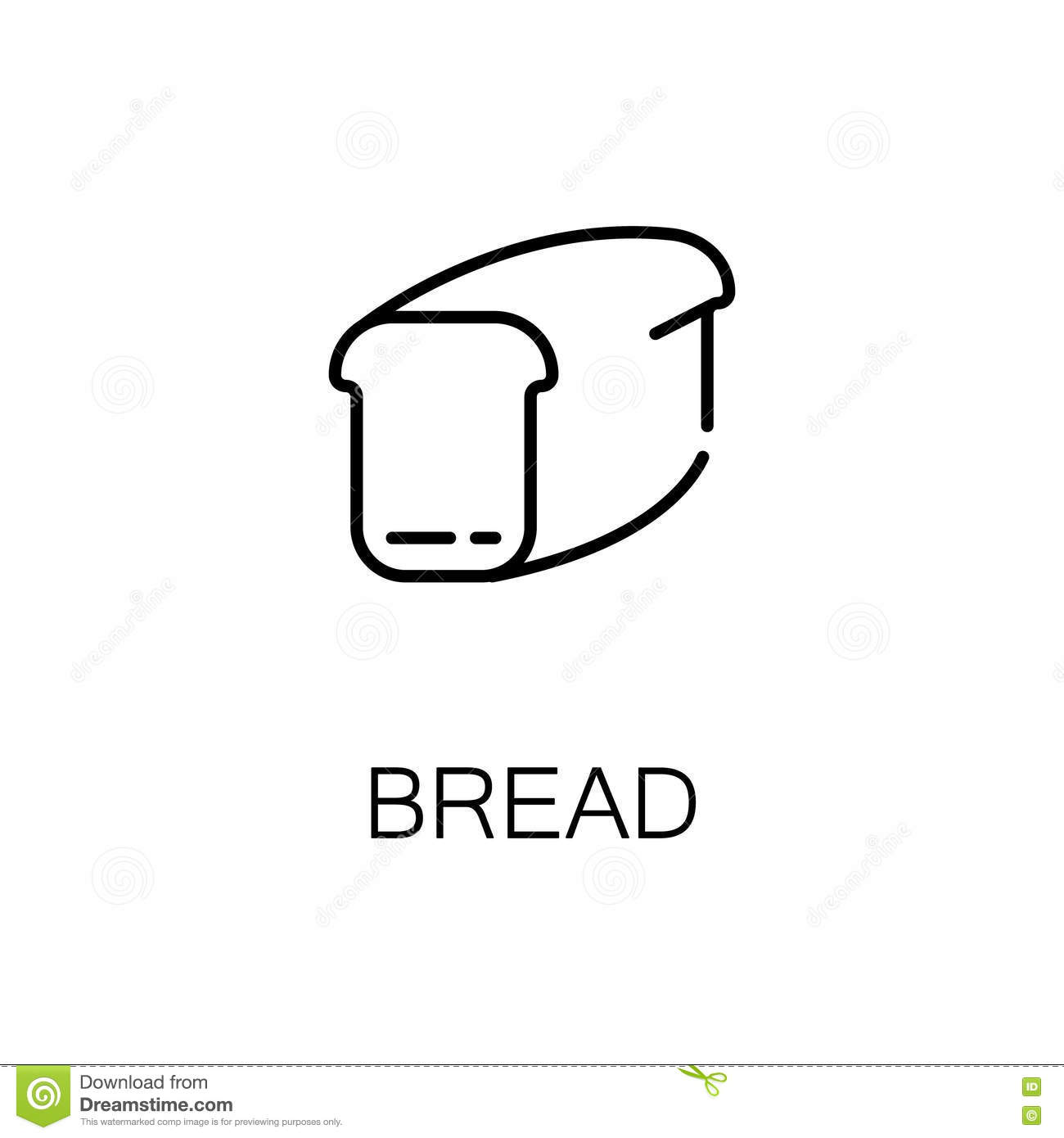 Bread Icon Of Vector Illustration For Web And Mobile