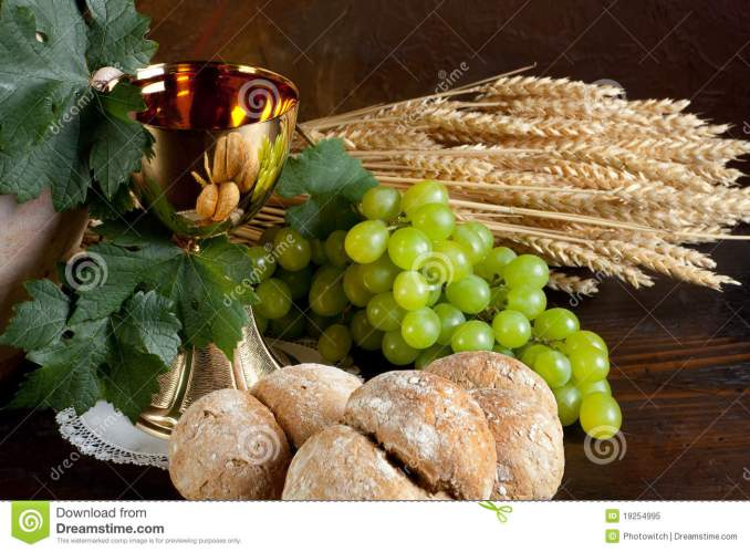 Bread And Wine For Communion Stock Image - Image: 19254995