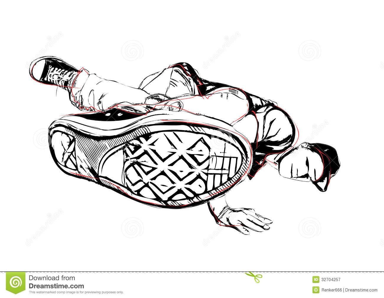 Breakdancer Illustration Royalty Free Stock Photography