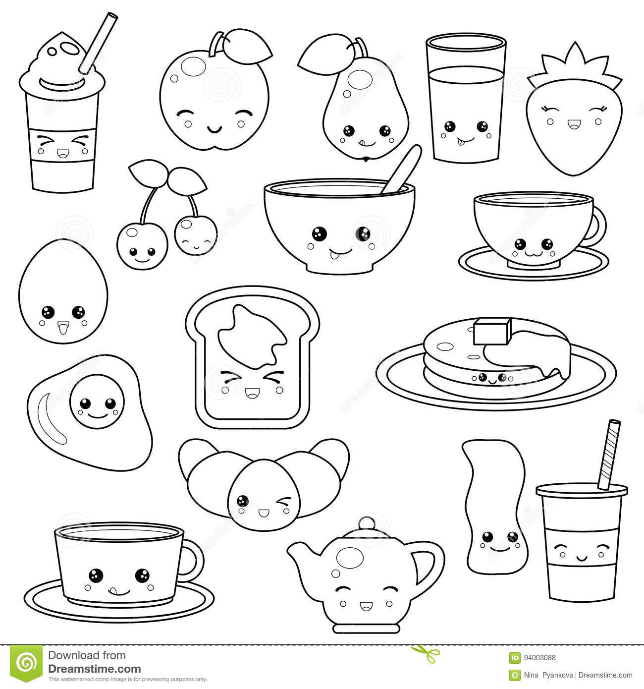 Breakfast Food And Beverages Stock Vector