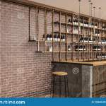 Brick Bar And Restaurant Side View Stock Illustration Illustration Of Indoor Estate 128640430