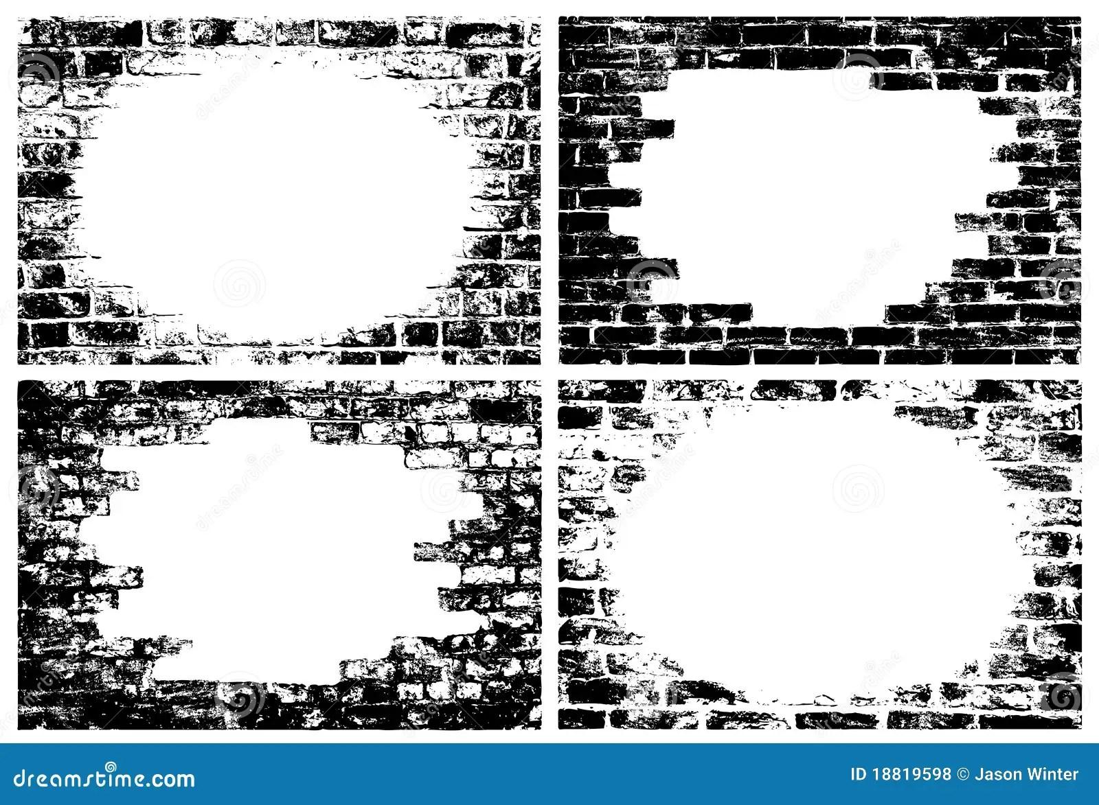 Brick Wall Grunge Borders Royalty Free Stock Photos