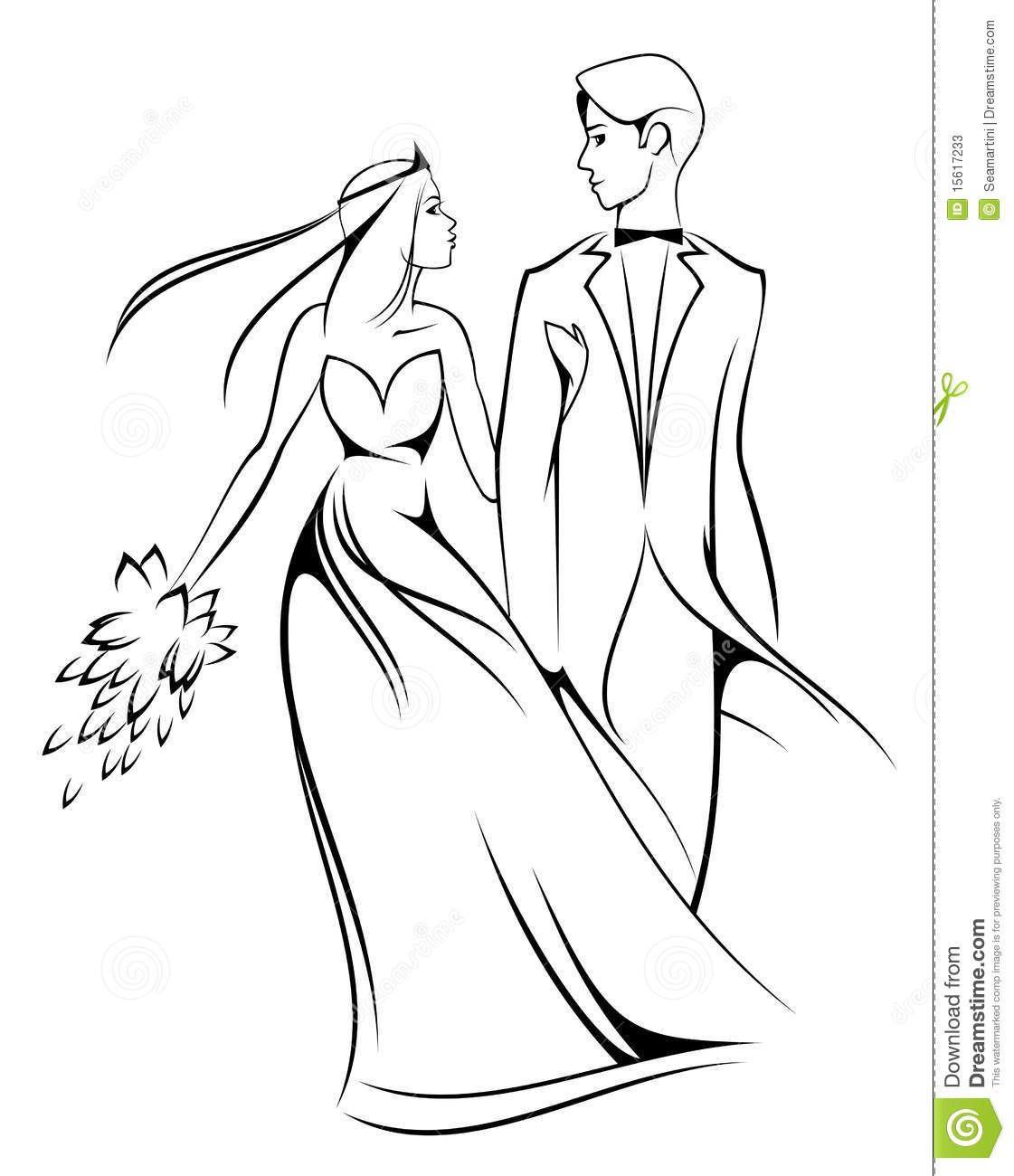 Bride And Groom Stock Photos
