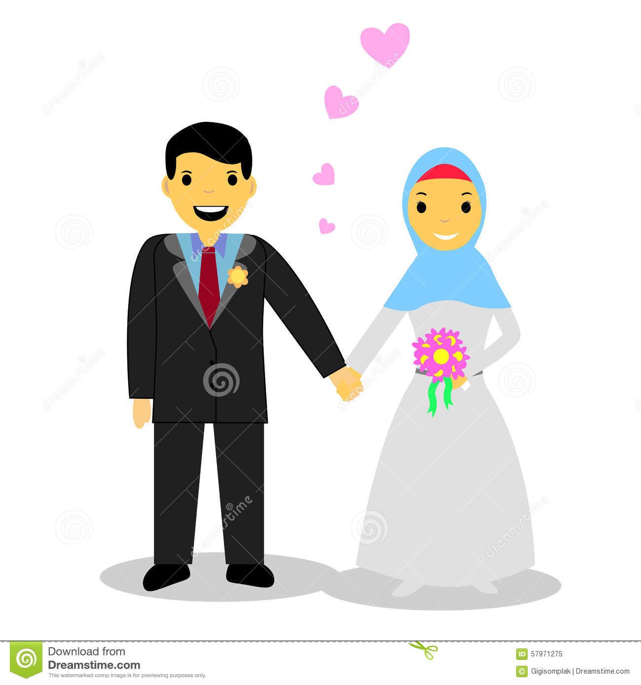 The Elegant Muslim Wedding Clipart For Your Reference Banyumasonline
