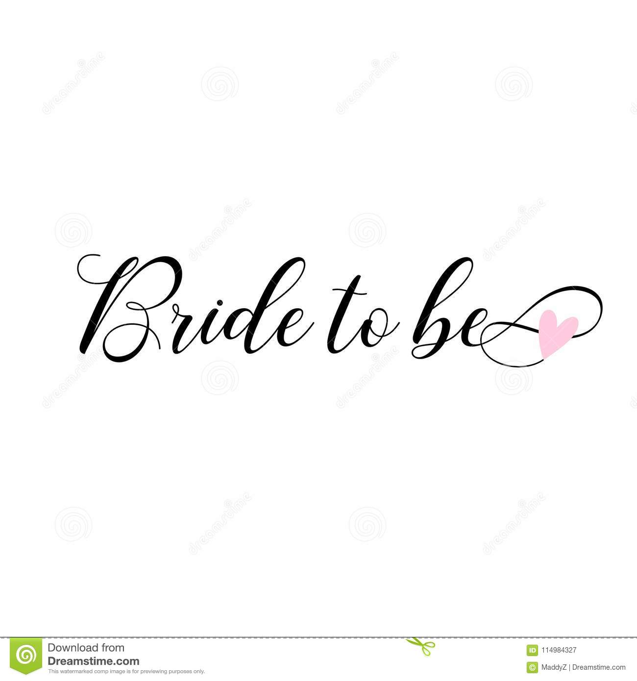 Bride To Be Lettering Card Invitations Decoration