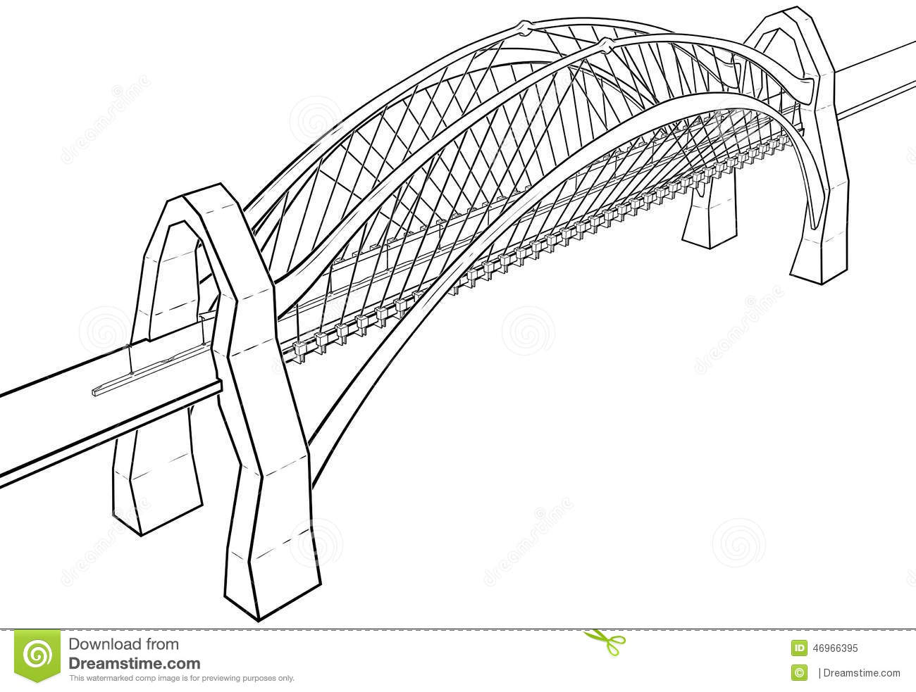 Bridge Illustration Stock Illustration Illustration Of