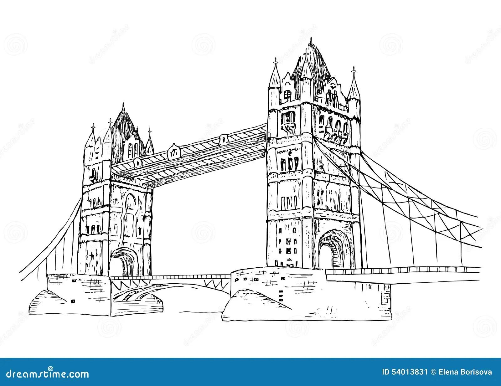 Bridge1 Wie Y Ilustracja Wektor Ilustracja Z O Onej Z
