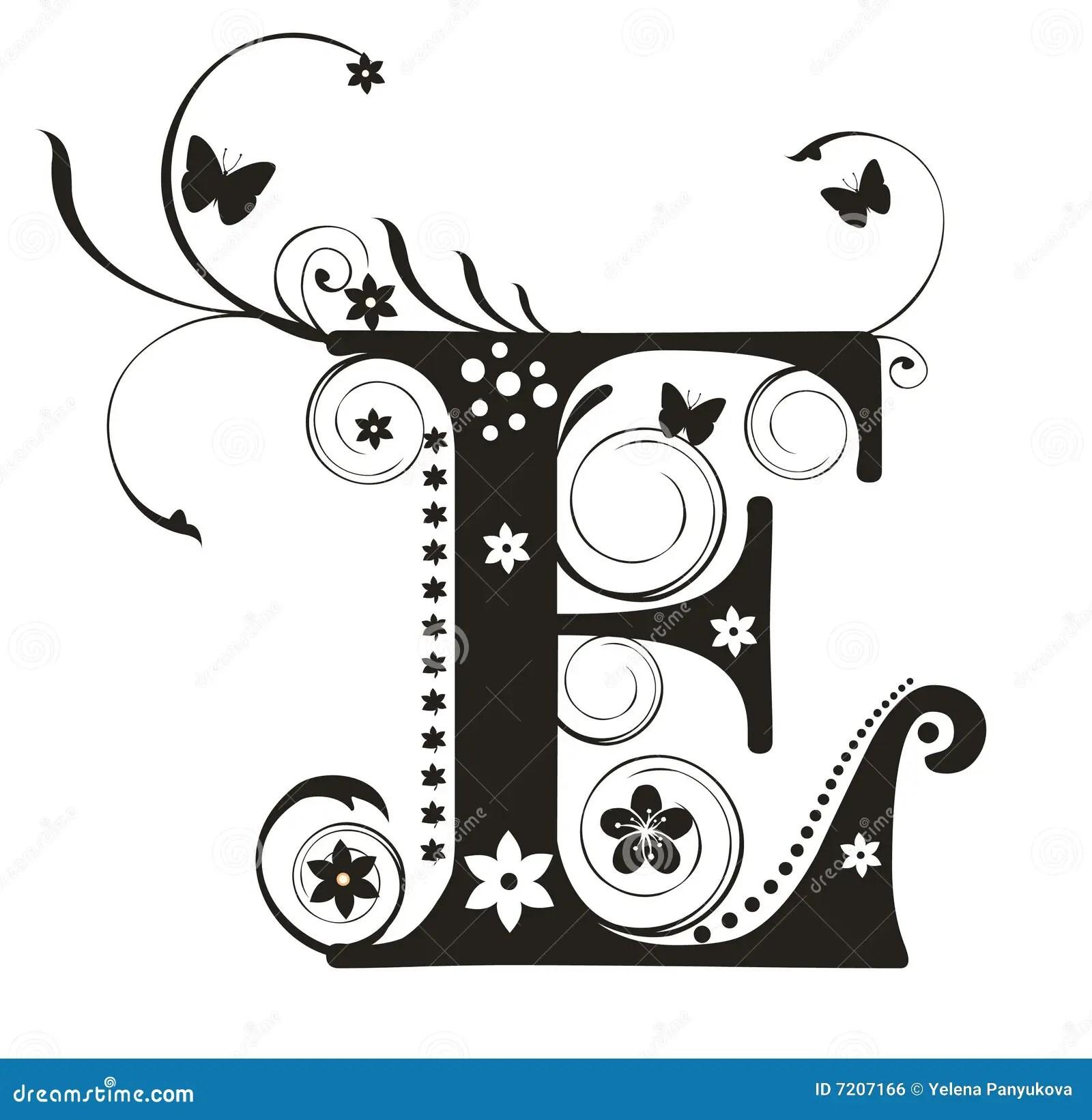 Brief E Vector Illustratie Illustratie Bestaande Uit