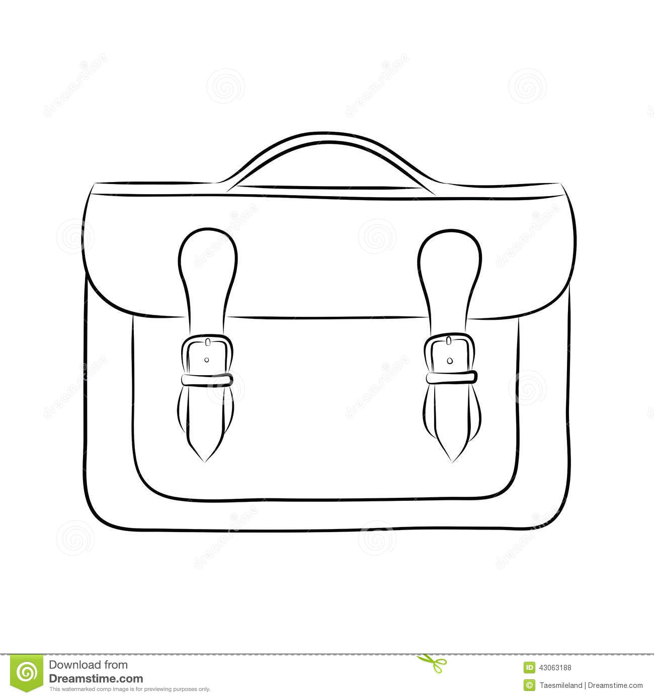 Briefcase Drawing Stock Vector Illustration Of