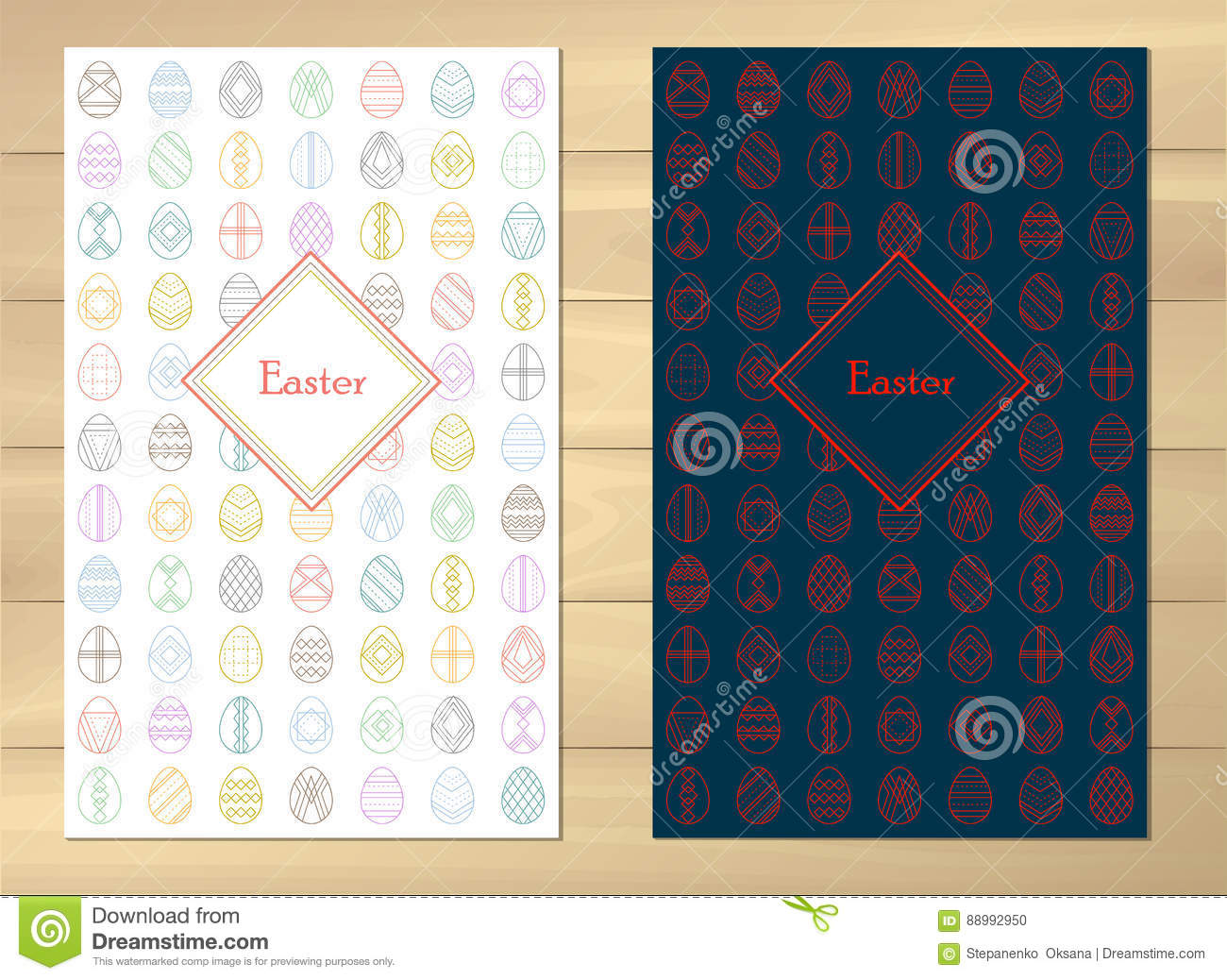 Bright Background Handwriting Inscription Happy Easter