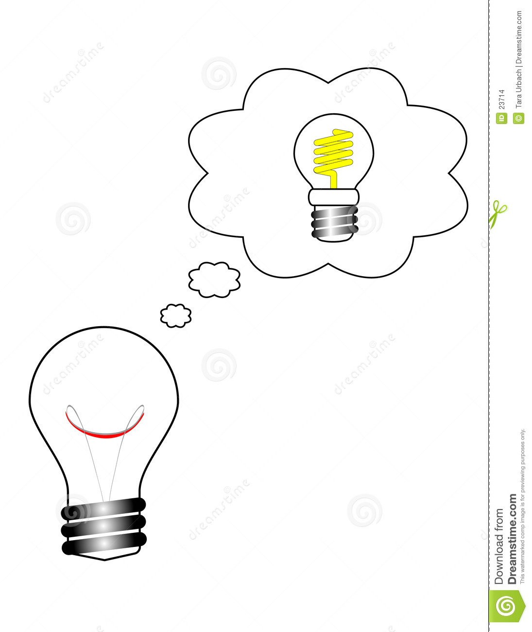A Bright Idea Conserve Energy Stock Images Image 23714