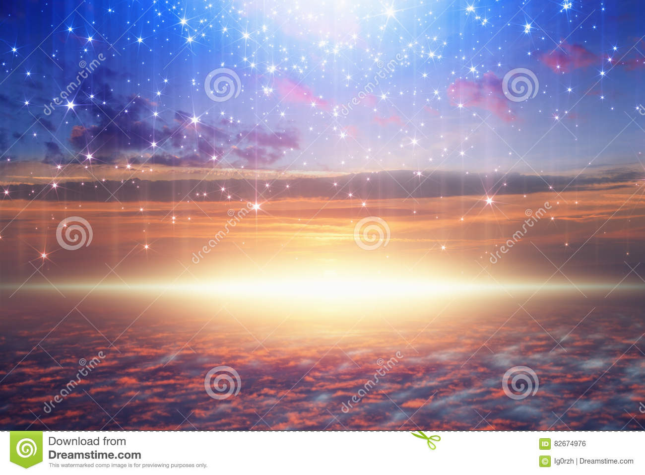 Bright Light From Heaven Stars Fall From Skies Royalty