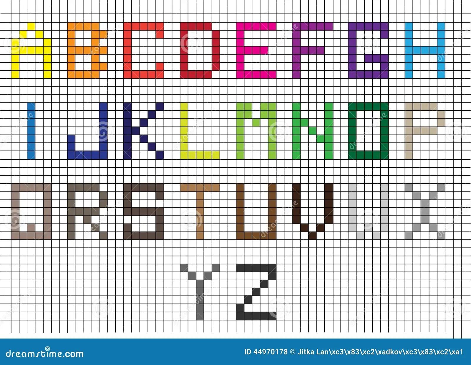 New Alphabet Grid