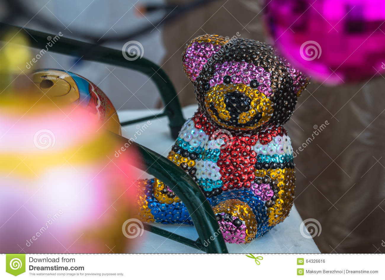 Brilliant Bear Different Colors Stock Photo