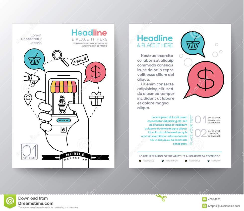 Brochure Flyer Design Layout Template With Digital ...