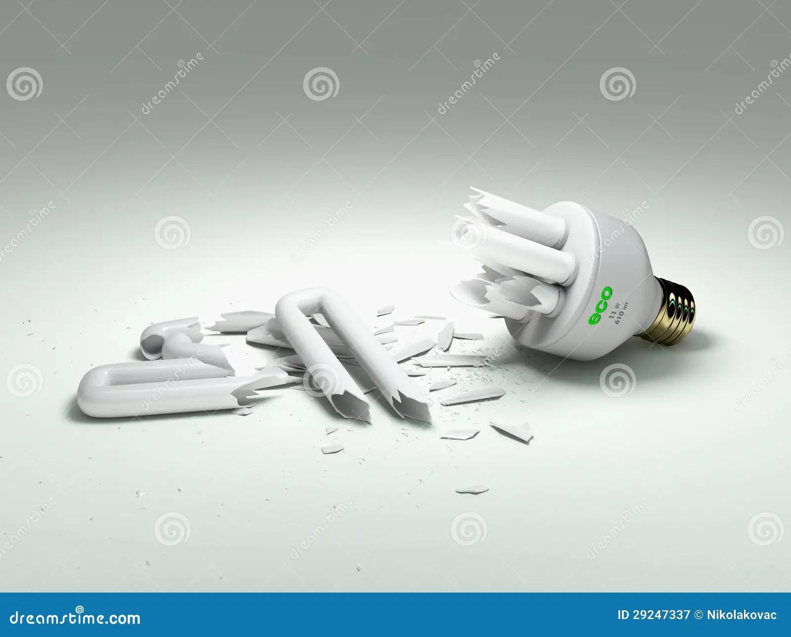 Broken Fluorescent Light Bulb Disposal