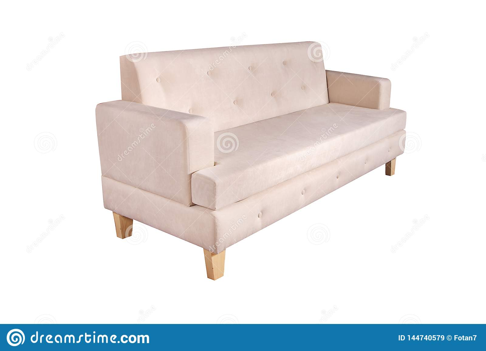 https www dreamstime com brown side view sofa furniture isolated white background modern image144740579