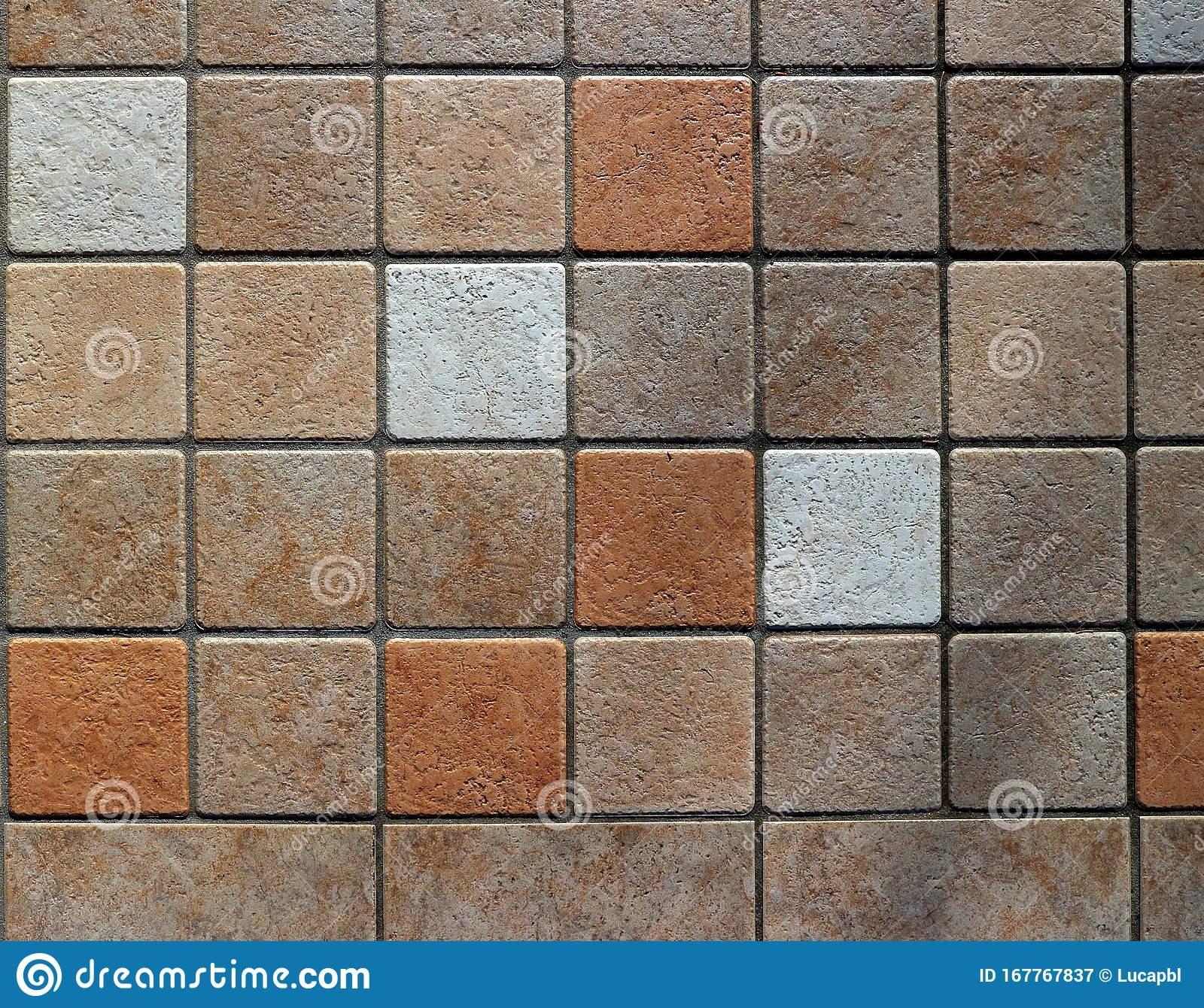 https www dreamstime com brown white terracotta tiles interior wall floor rustic style background texture image167767837