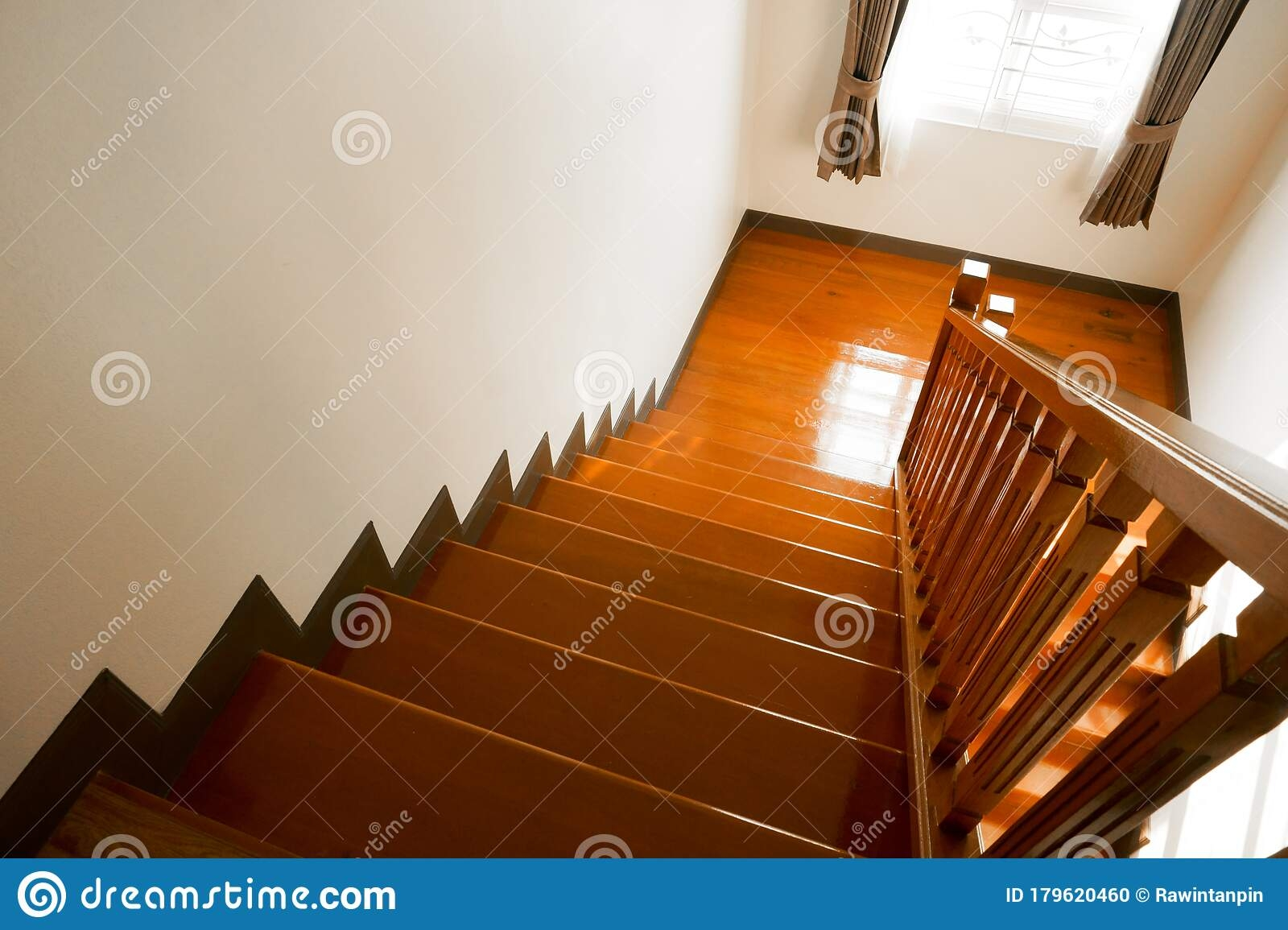Brown Wooden Stair Interior Decorated Modern Style Of Residential | Style Of Stairs Inside House | Outside India House | Spiral | Design | Mansion | Historic House