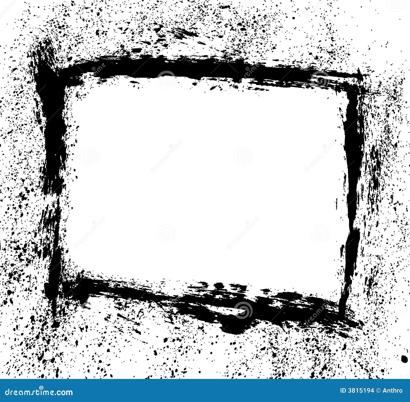 Brush Stroke Spatter Frame Stock Vector Illustration Of