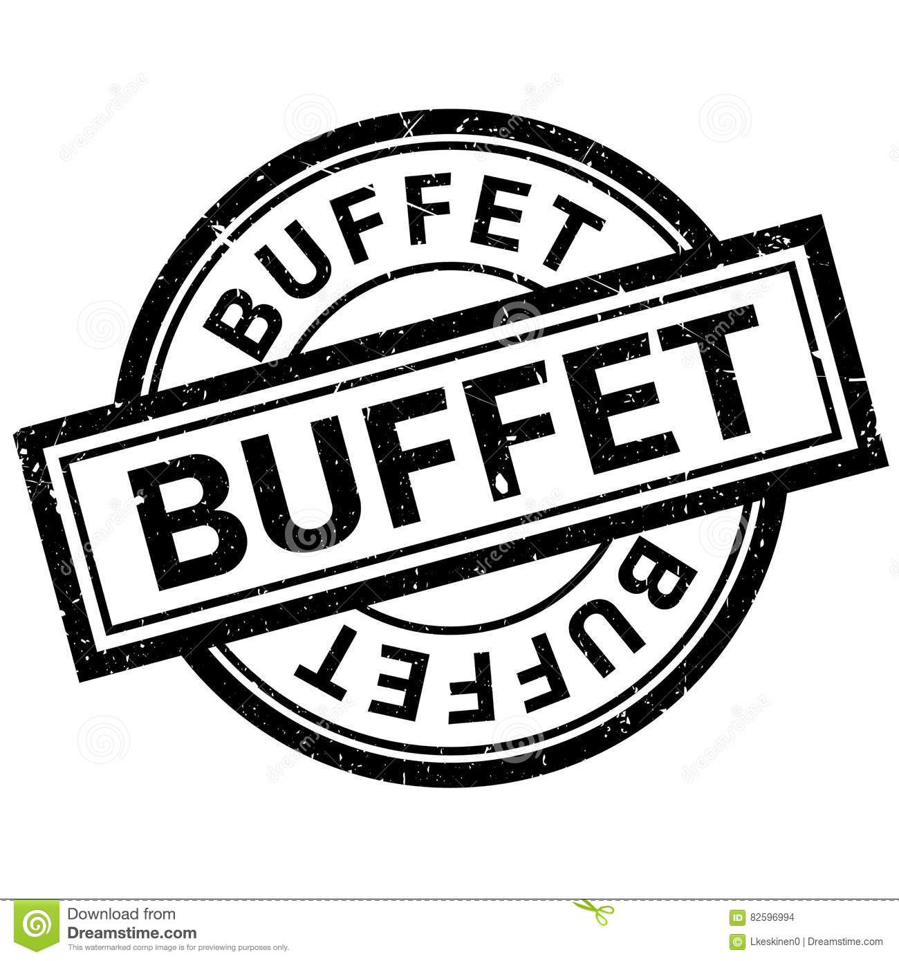 Buffet Rubber Stamp Vector Illustration