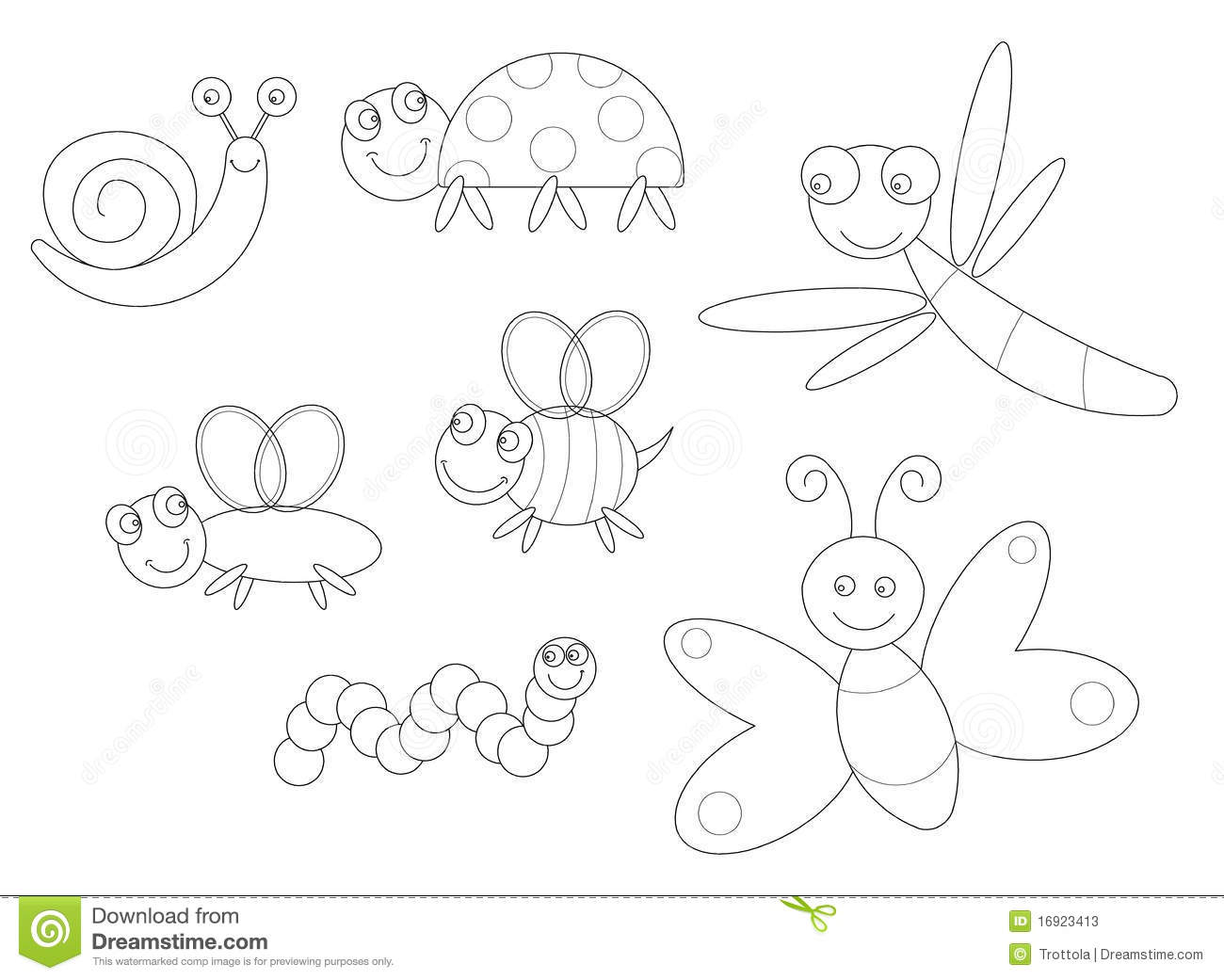 Bugs Coloring Stock Photos