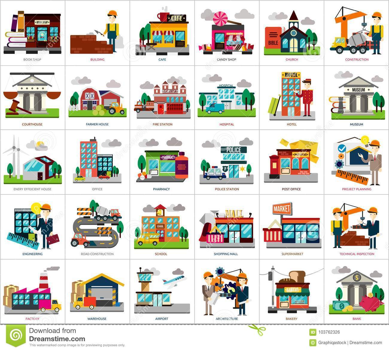 Building And Construction Conceptual Design Stock Vector