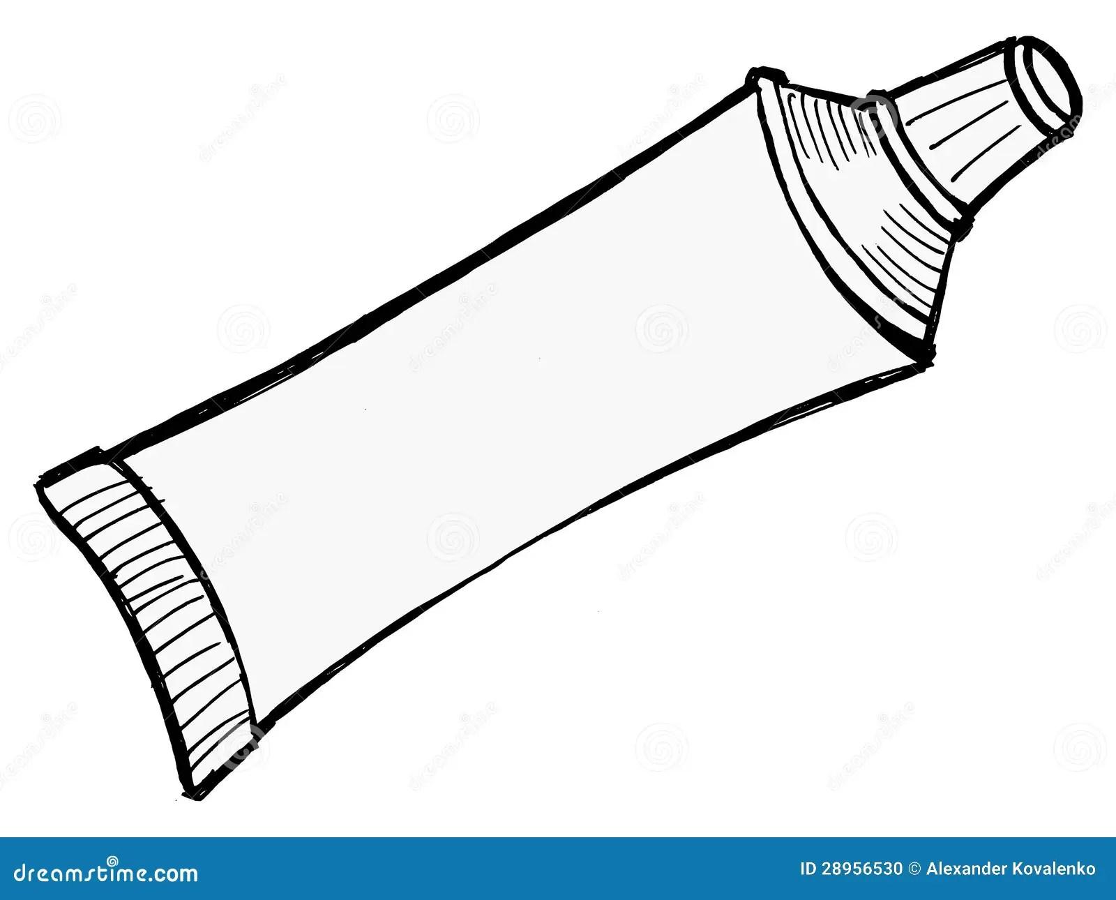 Buis Tandpasta Vector Illustratie Illustratie Bestaande Uit Lay