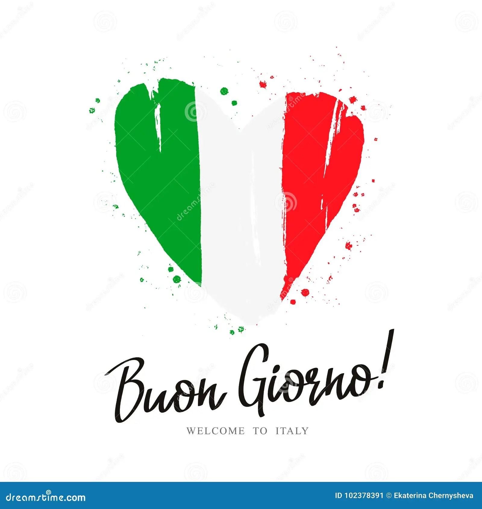 https fr dreamstime com buon giorno drapeau l italie sous forme grand coeur image102378391