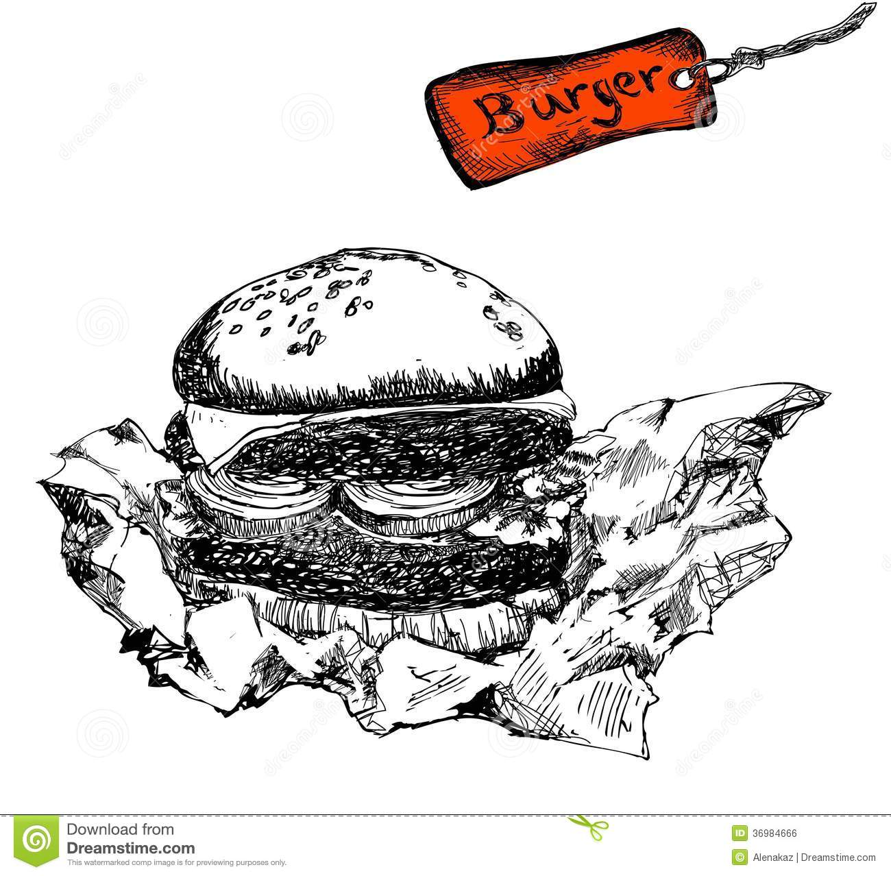 Burger In Paper Royalty Free Stock Image