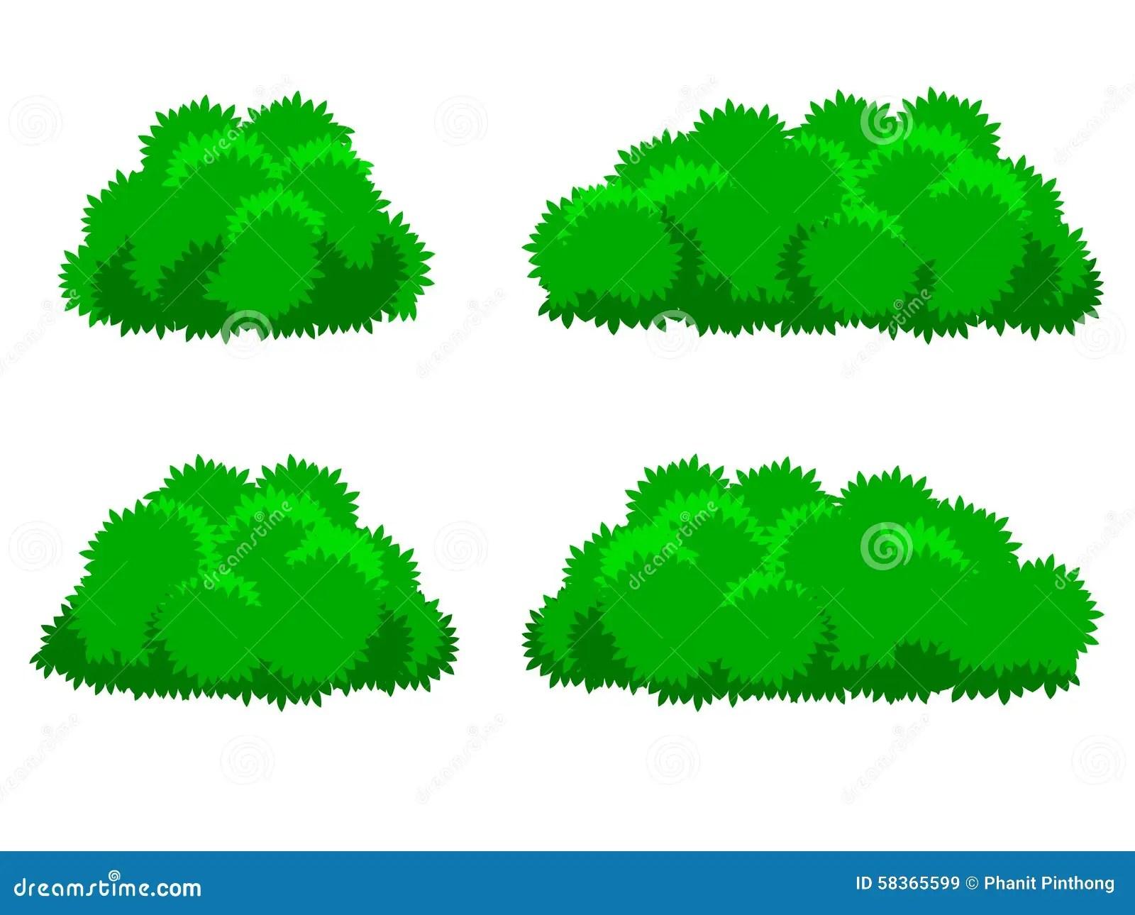 Bush Plants Cartoon Stock Vector