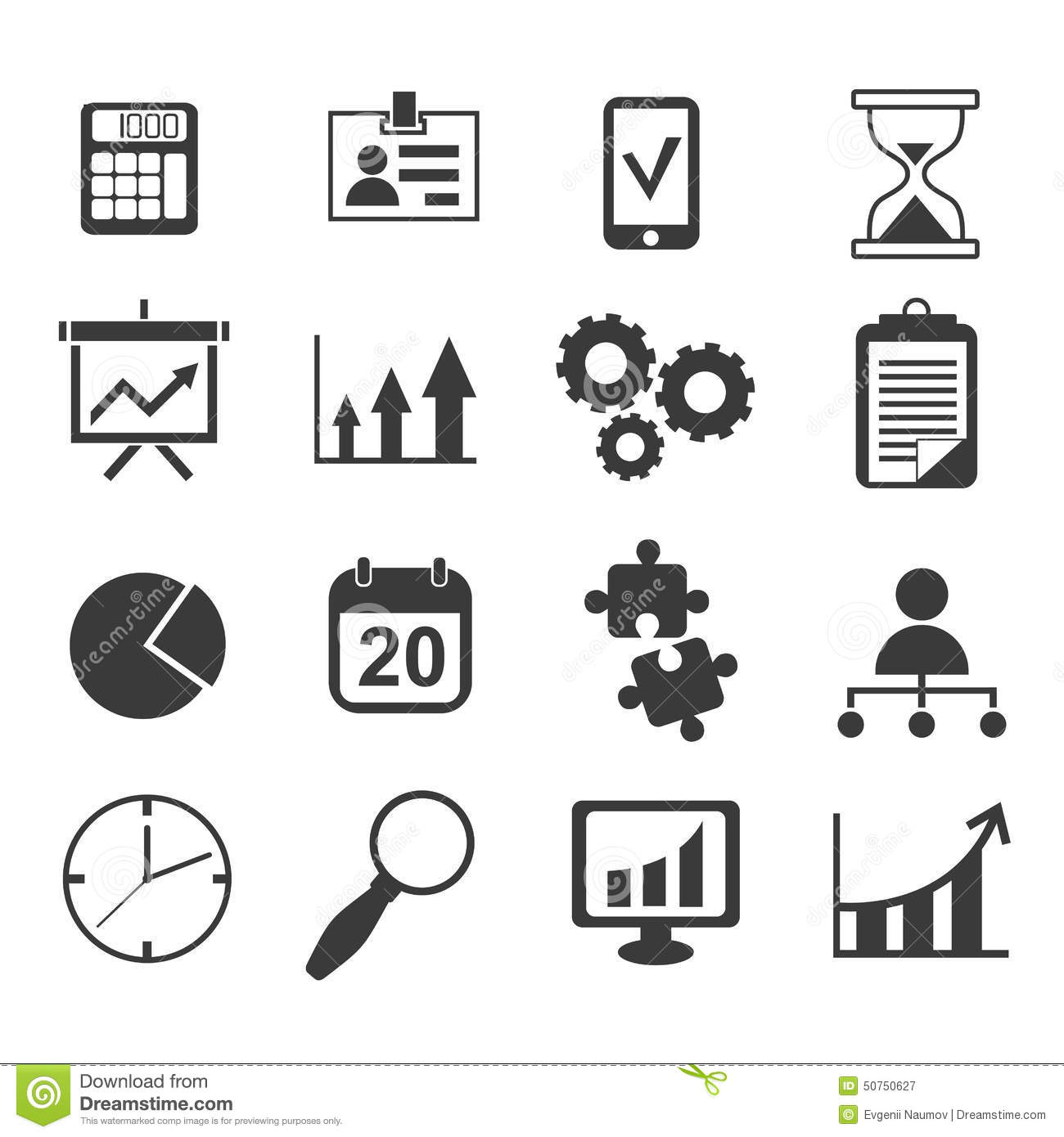 Businessyst Marketing Icon Vector Set Stock Vector