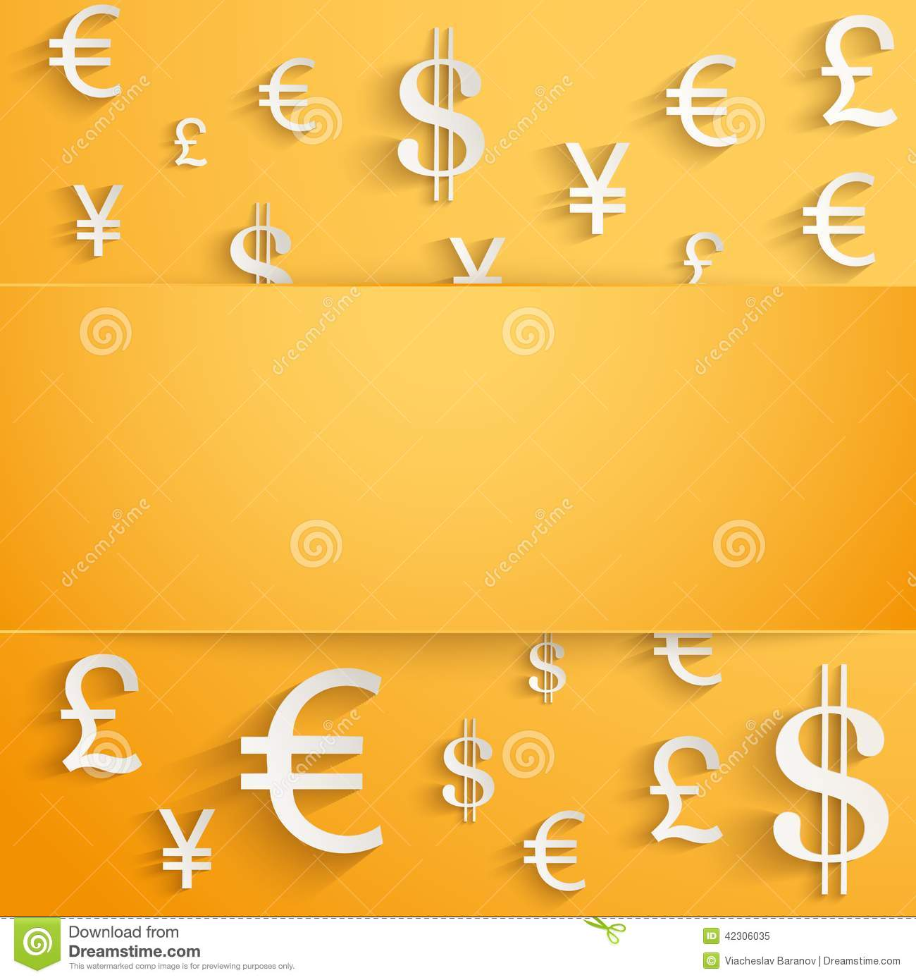 Business Background With Money Currency Symbols Stock