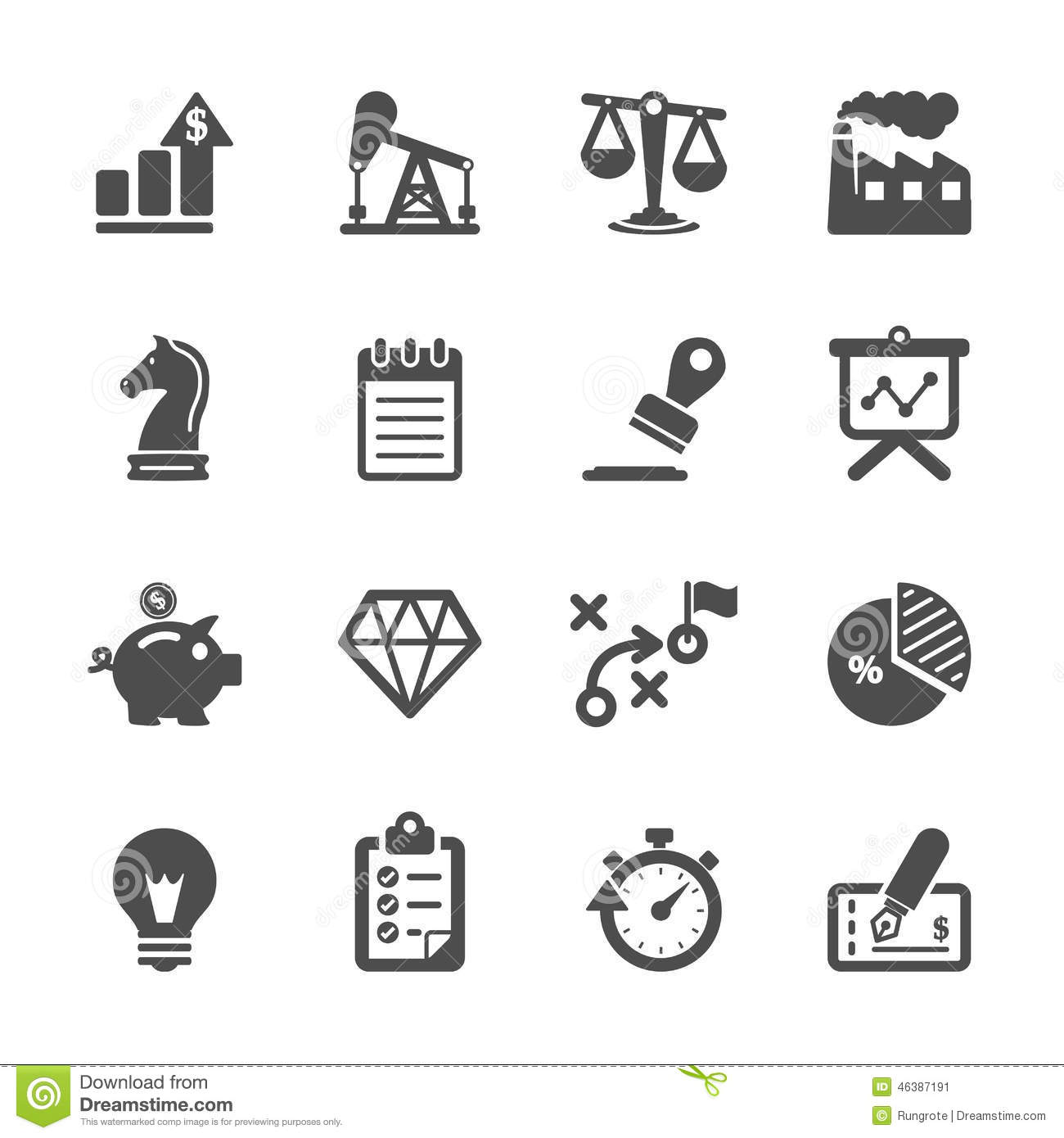 Business And Finance Icon Set Vector Eps10 Stock Photo