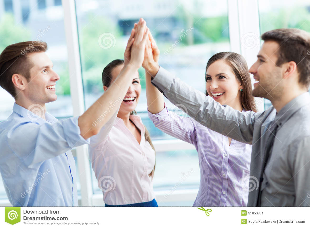 Business Group Joining Hands Stock Image
