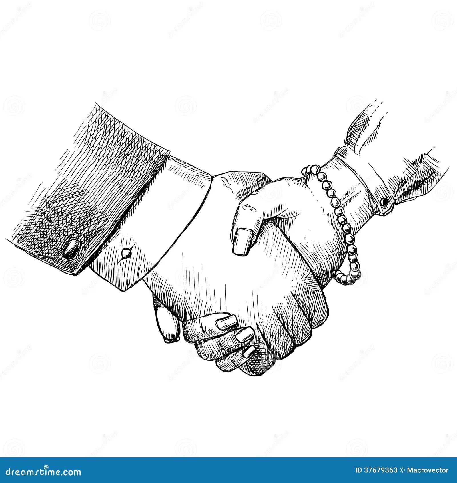 Business Handshake Man And Woman Stock Photos